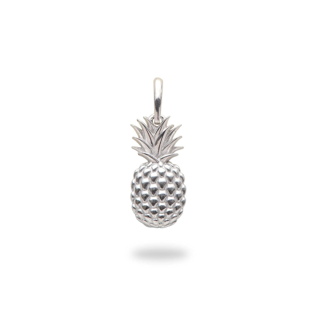Pineapple Charm/Pendant in Sterling Silver - 15mm