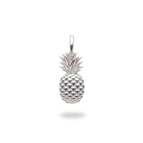 Pineapple Charm/Pendant in Sterling Silver - 15mm - Maui Divers Jewelry