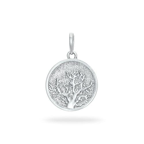 Coral Tree & Hawaiian Islands Charm/Pendant in Sterling Silver - 15mm