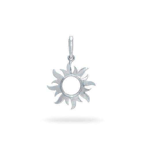 Sterling silver charms for bracelets necklaces sun charmpendant in sterling silver 14mm aloadofball Image collections