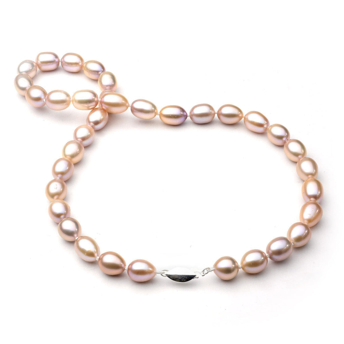 Freshwater Pearl Strand in Sterling Silver (9-10mm)