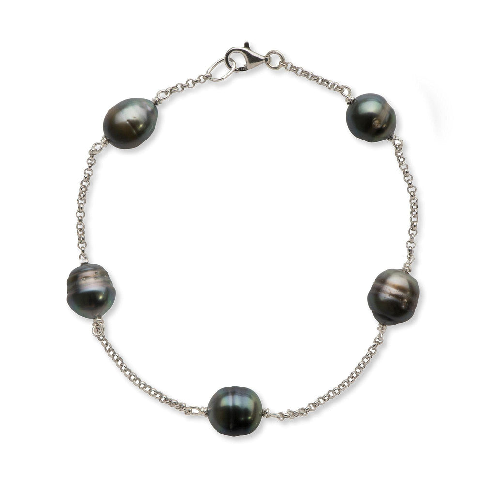 Tahitian Black Pearl Bracelet in Sterling Silver - Maui Divers Jewelry