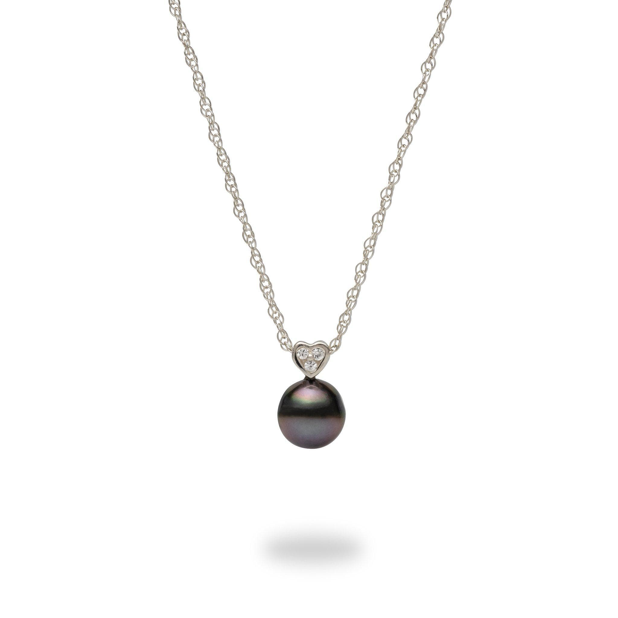 4cb506215ff Tahitian Black Pearl Necklace in Sterling Silver