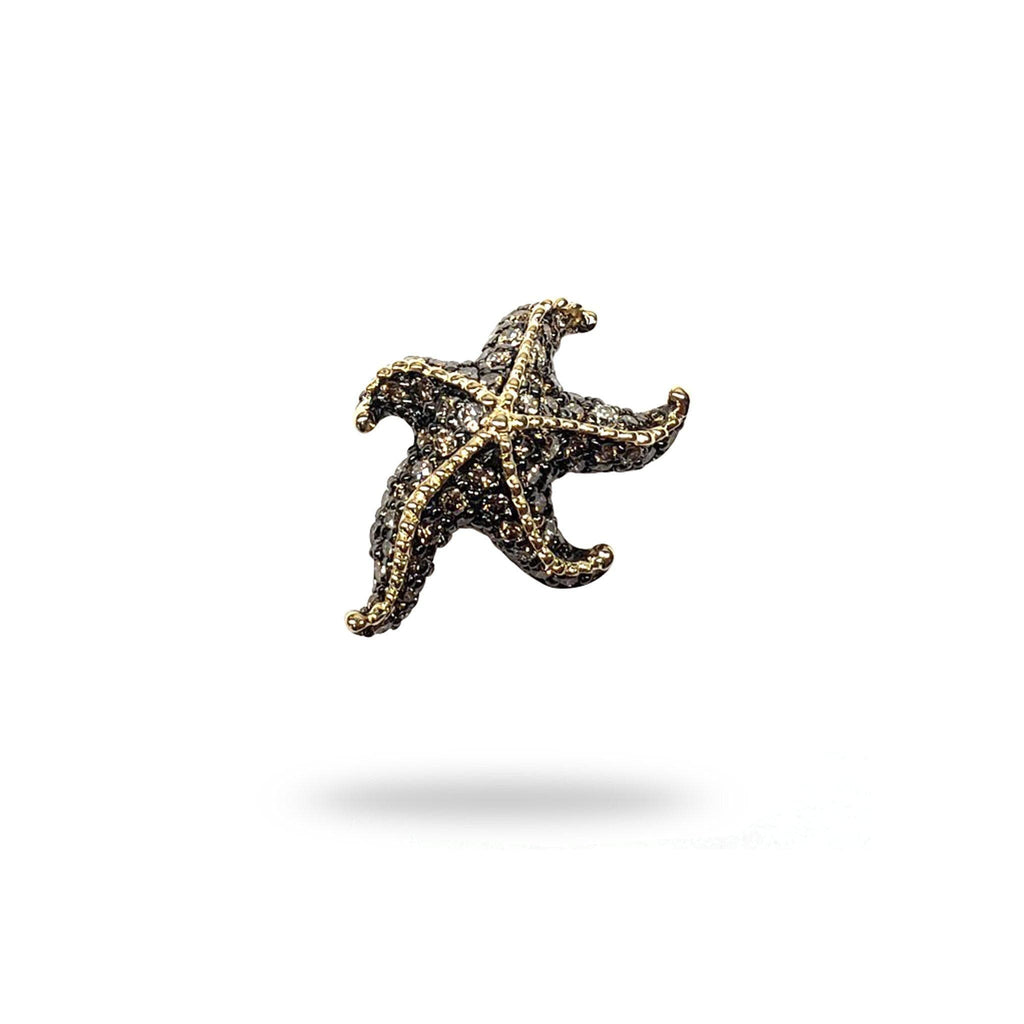 Starfish Pendant with Diamonds in 14K Yellow Gold - Maui Divers Jewelry