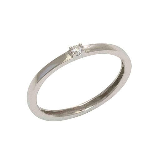 Diamond Ring in 14K White Gold (Stackable Band)-047-02780