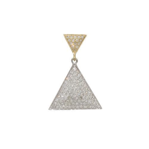 Triangle diamond pendant in 14k two tone gold triangle diamond pendant in 14k two tone gold 047 03261 mozeypictures Images
