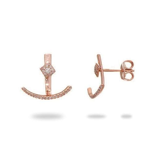 Diamond Earrings in 14K Rose Gold 047-03275