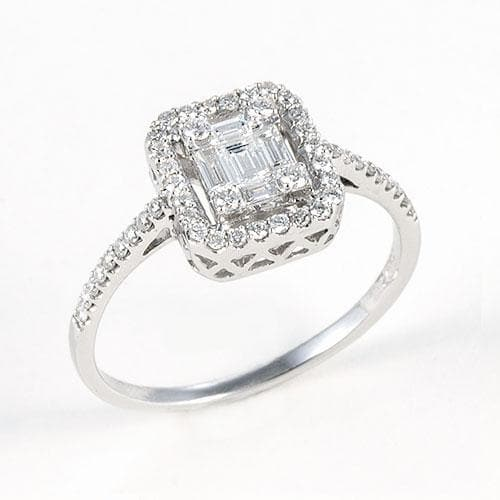 Diamond Ring in 18k White Gold-047-03432