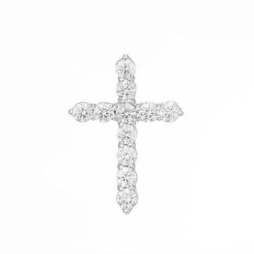 Diamond Cross Pendant in 14K White Gold 047-03633
