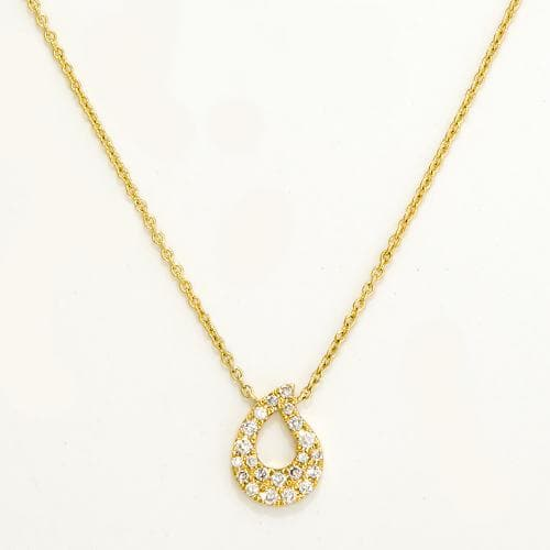 Diamond Necklace in 14K Yellow Gold-047-96109