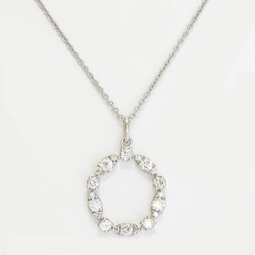 Diamond Necklace in 14K White Gold-047-96126