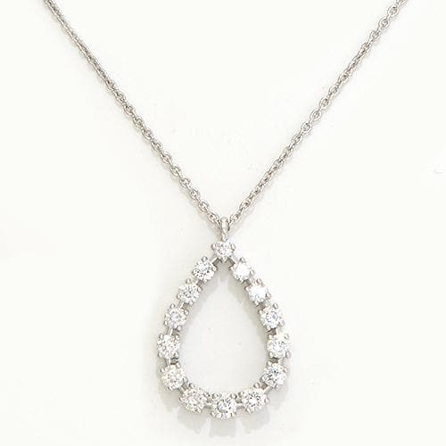 Diamond Necklace in 14K White Gold-047-96134