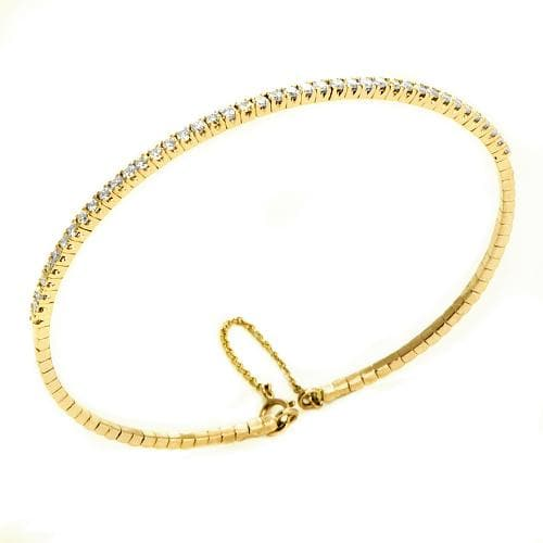 Diamond Bracelet in 14K Yellow Gold-047-96137