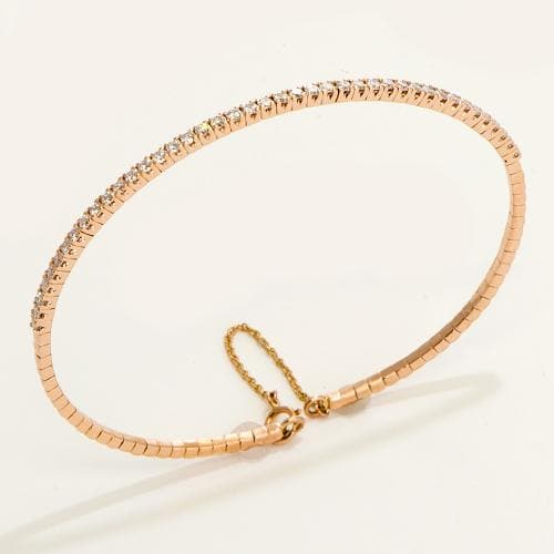 Diamond Bracelet in 14K Rose Gold-047-96138