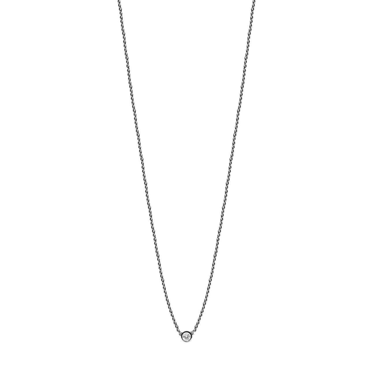 "16-18"" Adjustable Necklace with Diamond in 14K White Gold - Maui Divers Jewelry"