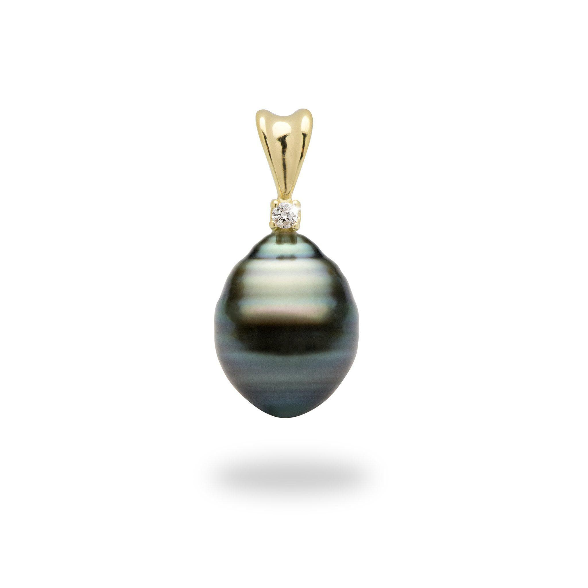 in round pearl gold white ct black pendant cut necklace