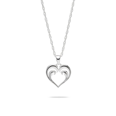 Nalu Heart Necklace in Sterling Silver