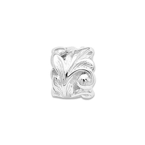 Maile Scroll 8mm Slide Pendant in 14K White Gold