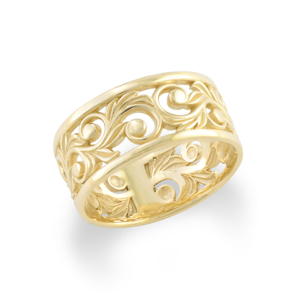 Living Heirloom Ring in Gold - 10mm-Maui Divers Jewelry