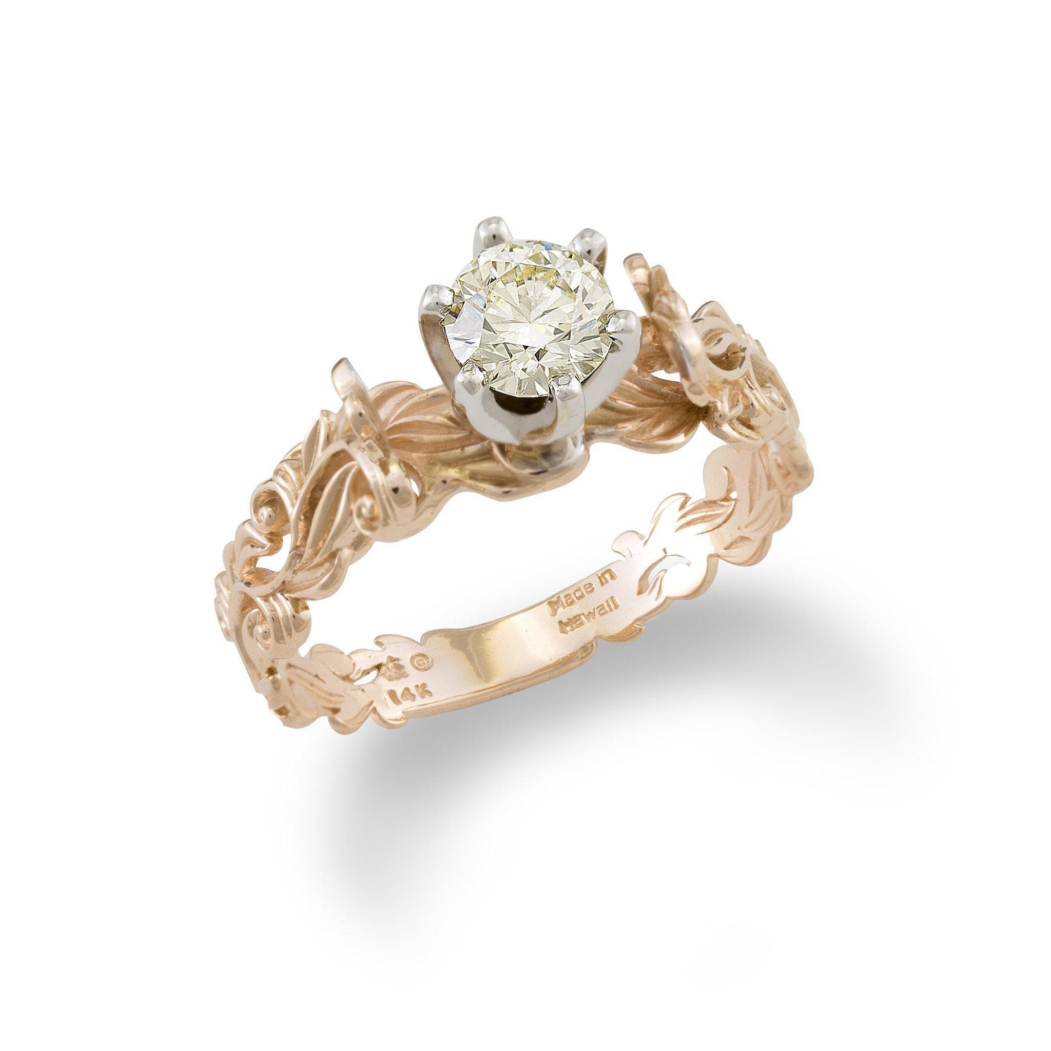 rings ring gold hawaiian wedding inspired ocean heirloom with rose collections bridal diamond engagement collection in