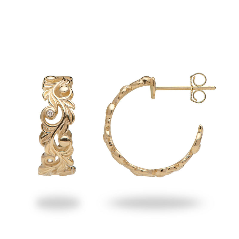 Living Heirloom Earrings in 14K Yellow Gold with Diamonds-074-00778