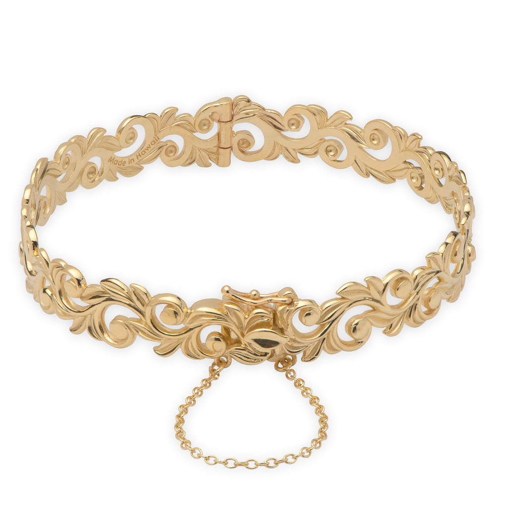Hawaiian Heirloom Bracelet in 14K Yellow Gold