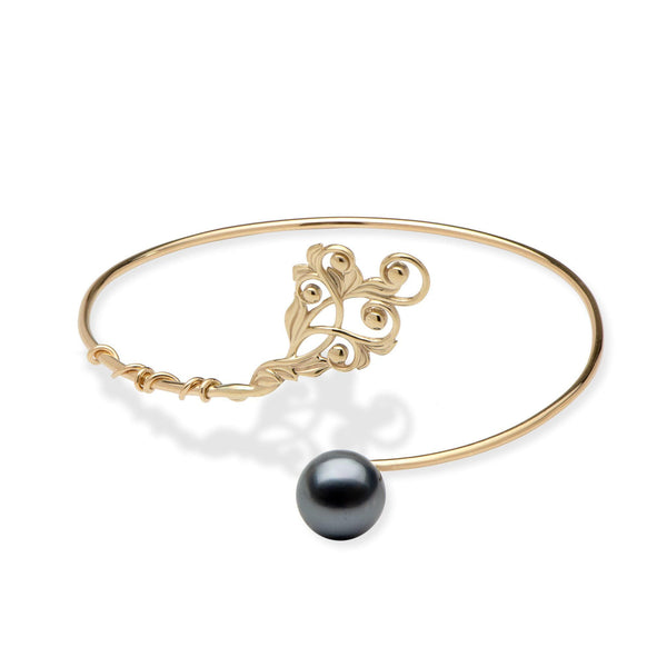 Living Heirloom Tahitian Black Pearl Bracelet in Gold-Maui Divers Jewelry