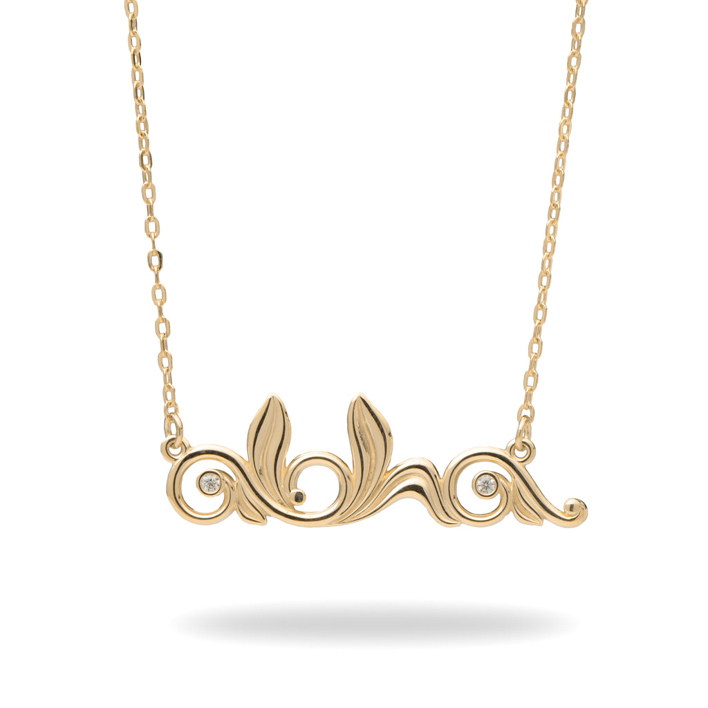 Living Heirloom Necklace in Gold with Diamonds - 30mm-[SKU]