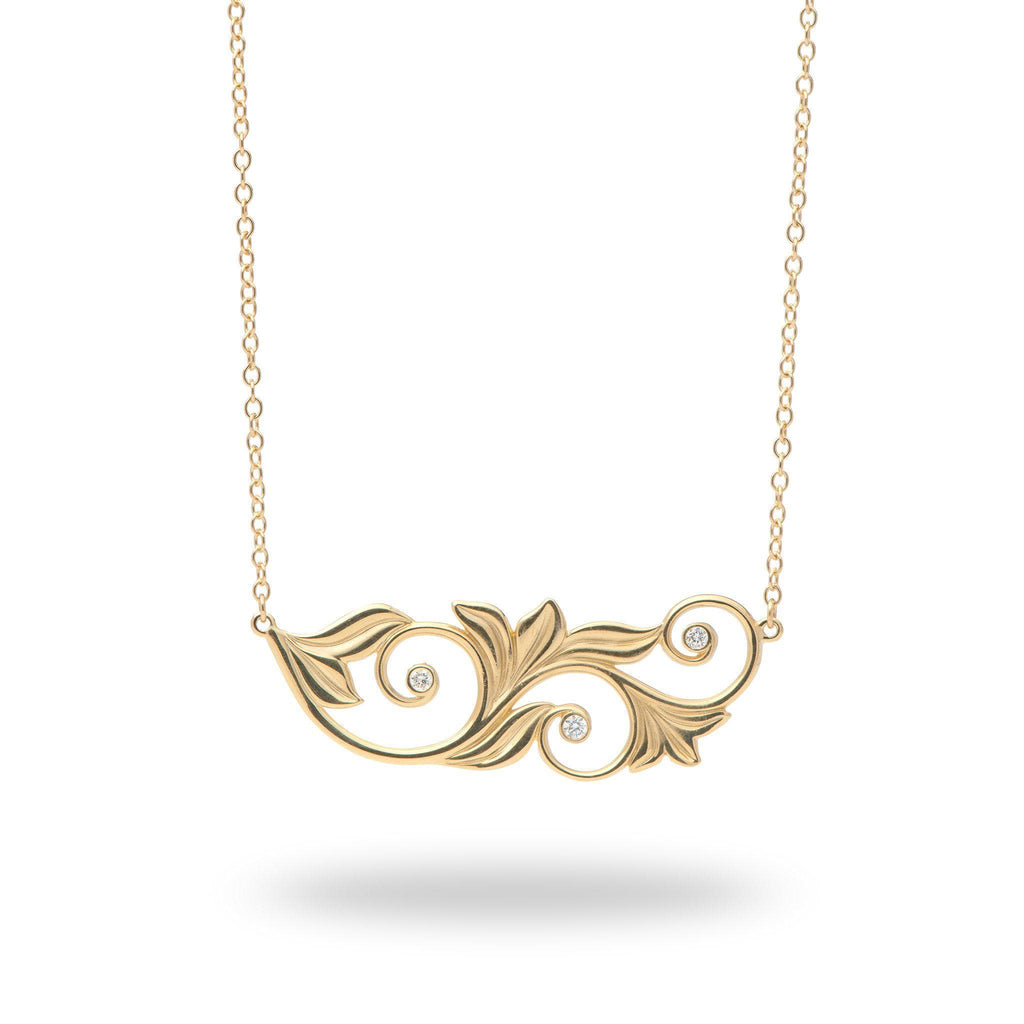 Living Heirloom Necklace(45mm)  in 14K Yellow Gold with Diamonds