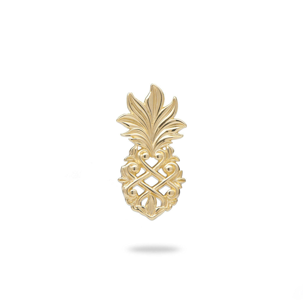 Living Heirloom Pineapple Pendant in 14K Yellow Gold-18mm