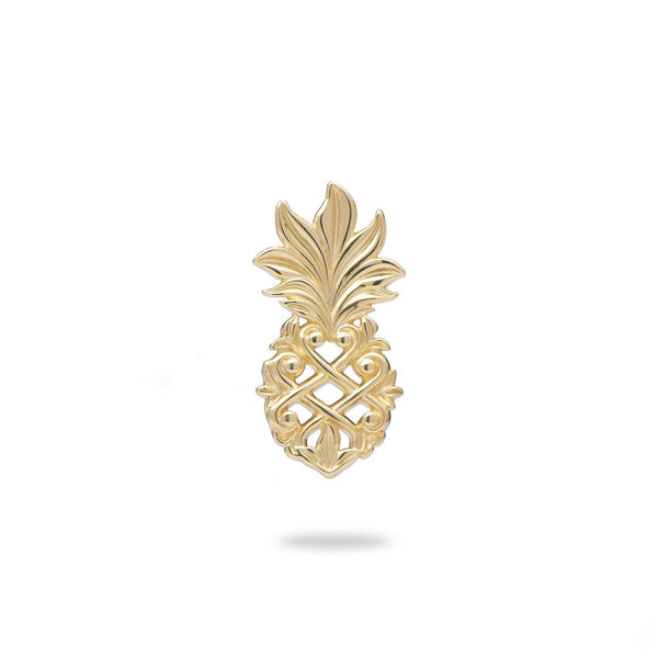 Living Heirloom Pineapple Pendant in Gold - 18mm-Maui Divers Jewelry
