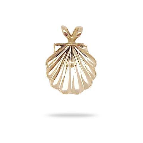 Shell Pendant Mounting in 14K Yellow Gold