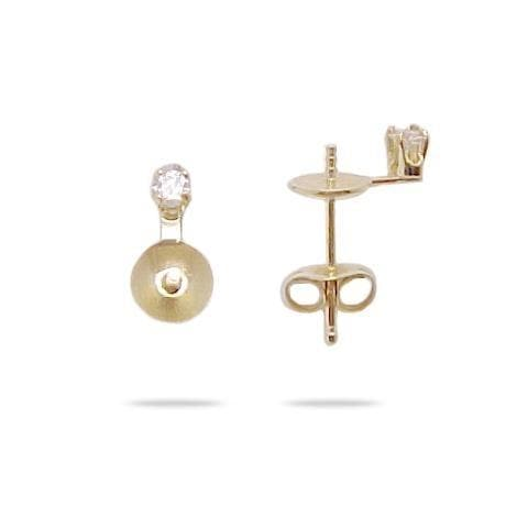 Pick a Pearl Earring with Diamonds in 14K Yellow Gold 076-00102