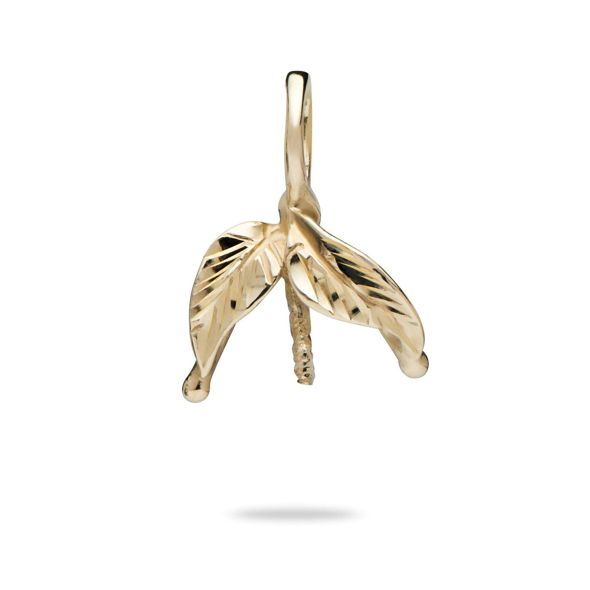 Maile Leaves Pendant Mounting in 14K Yellow Gold 076-00111