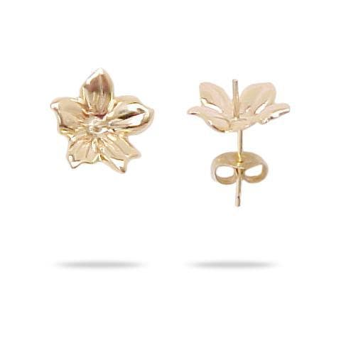Flower Earring Mountings in 14K Yellow Gold 076-00014