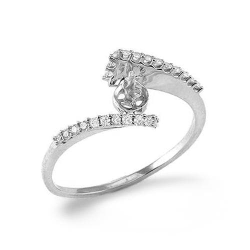 Bypass Ring Mounting in 14K White Gold with Diamonds 076-00940
