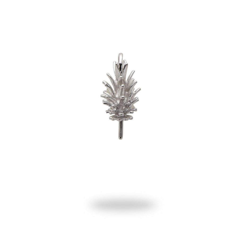 Pineapple Pendant Mounting in 14K White Gold