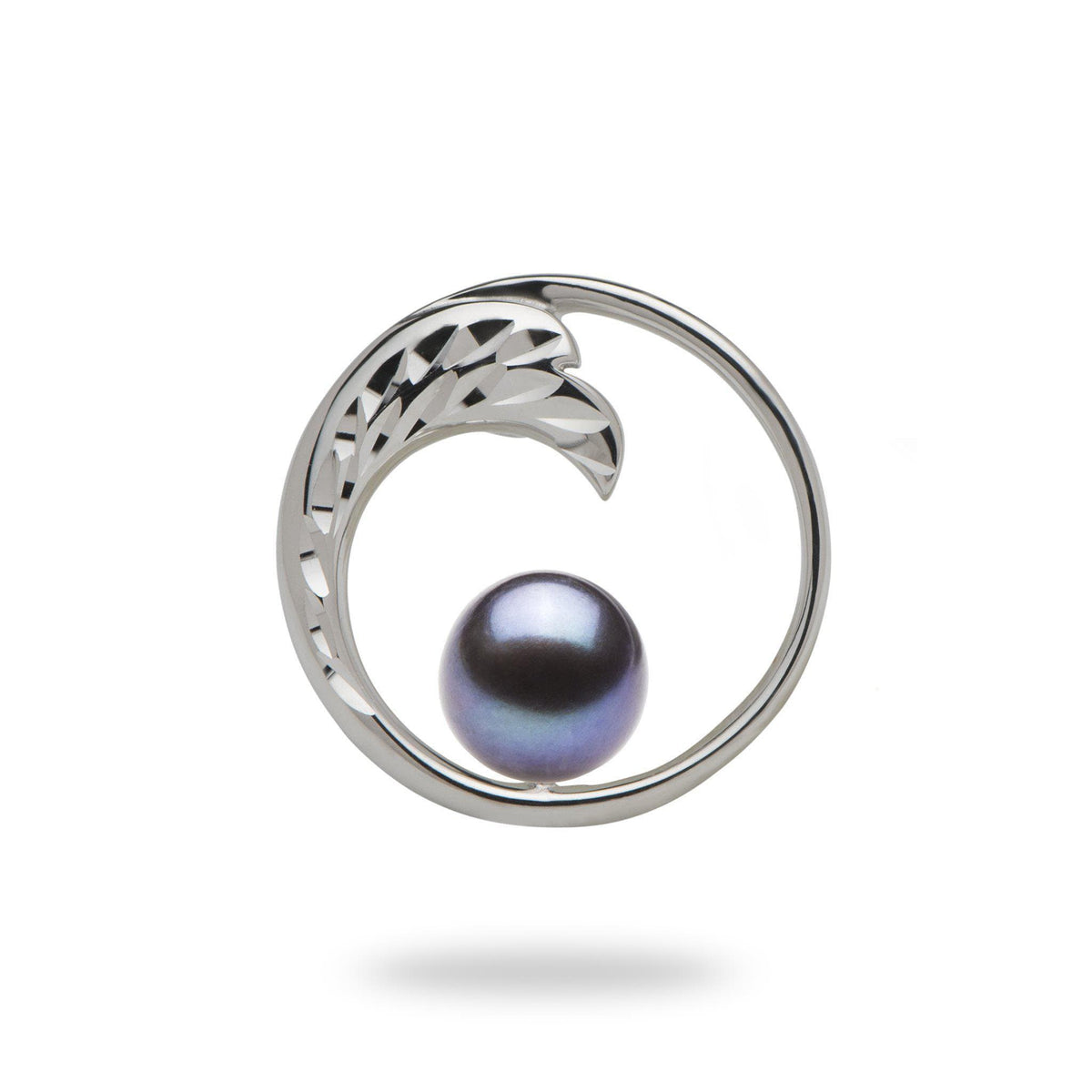 Pick-a-Pearl Nalu Pendant in White Gold - 18mm