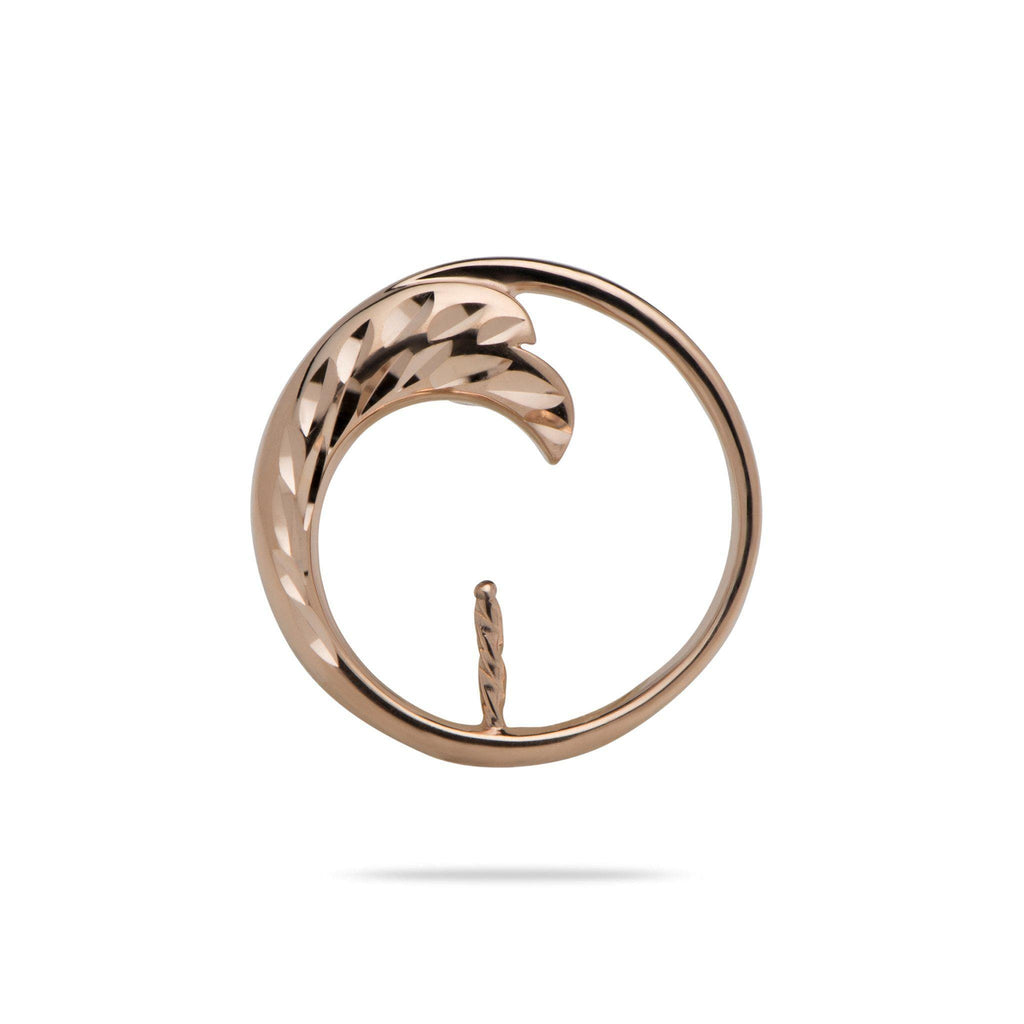Nalue (Wave) Pendant Mounting in 14K Rose Gold
