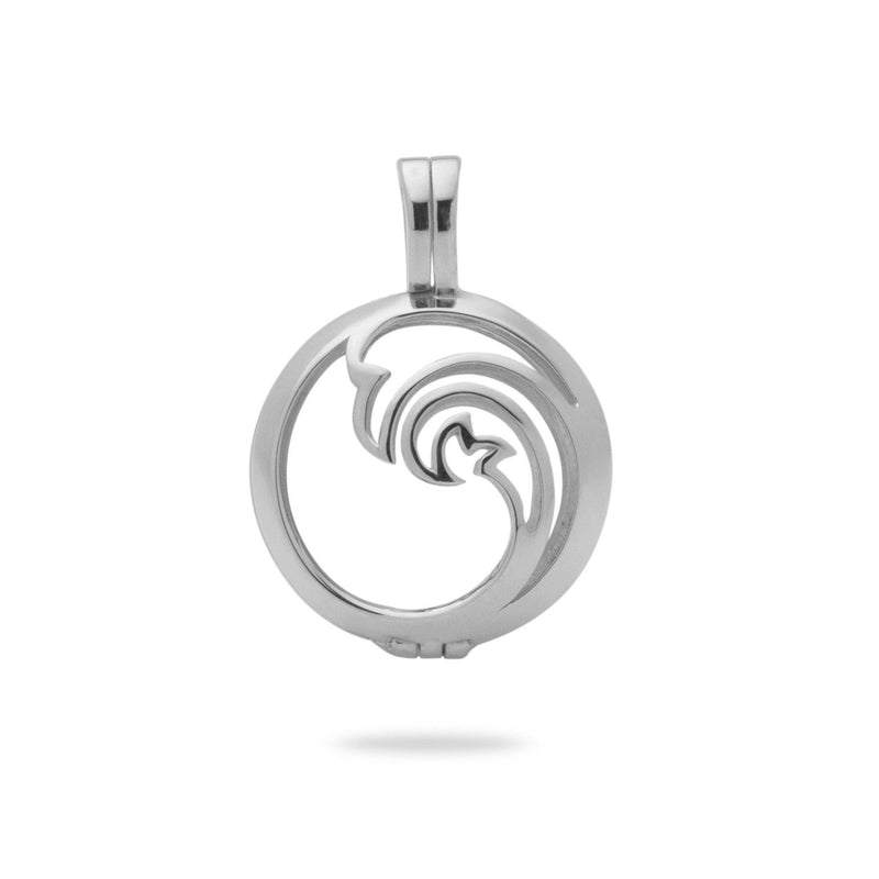 Nalu (Waves) Cage Pendant Mounting in 14K White Gold - Maui Divers Jewelry