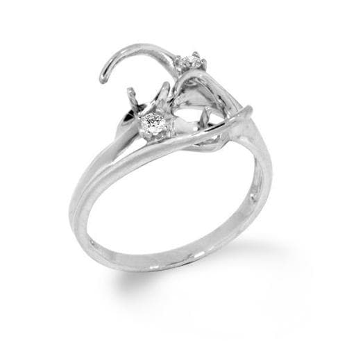 Pick-a-Pearl Ring in White Gold with Diamonds