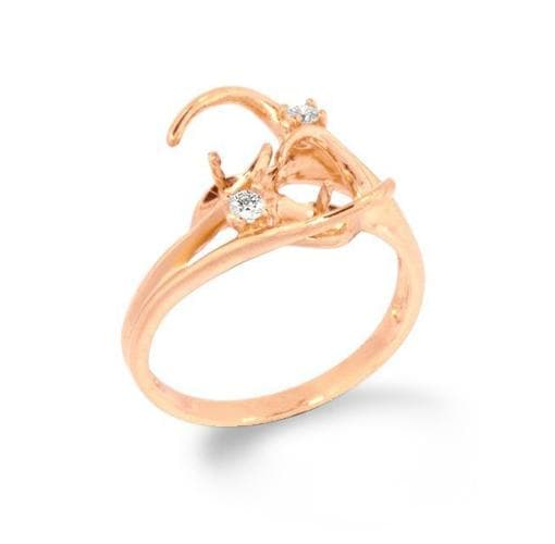 Pick-a-Pearl Ring in Rose Gold with Diamonds