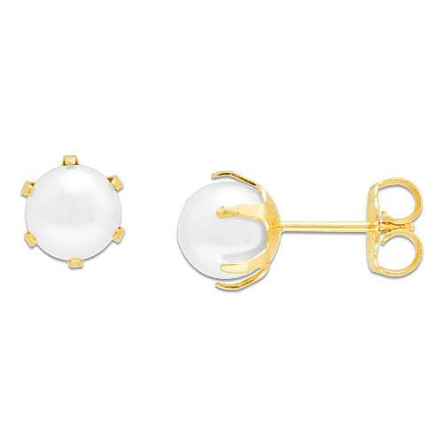 Pick a Pearl Earring in 14K Yellow Gold 076-00106 White