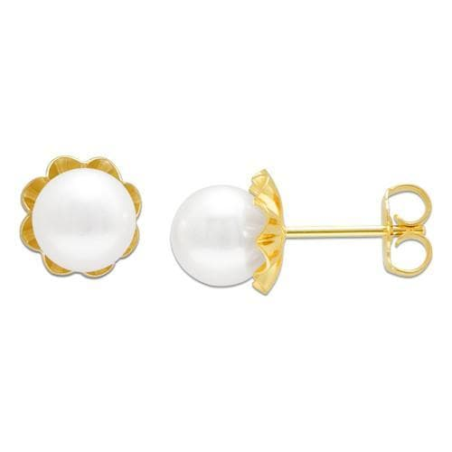 Pick a Pearl Earring in 14K Yellow Gold 076-00118 Cream
