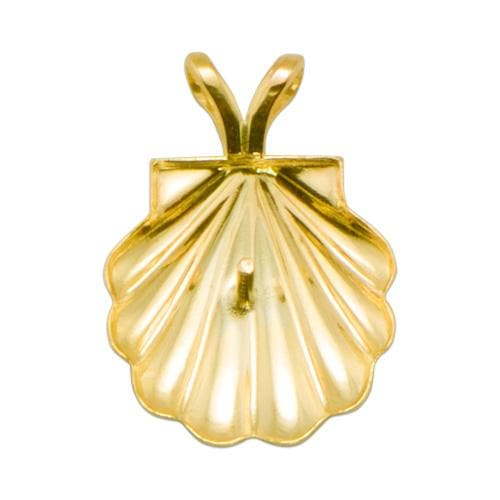 Shell Pendant Mounting in 10K Yellow Gold-[SKU]