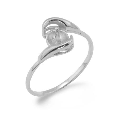 Ring Mounting in 10K White Gold -SIZE 7 077-00029
