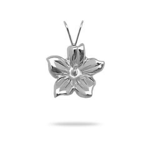 Pick-a-Pearl Hibiscus Pendant in White Gold