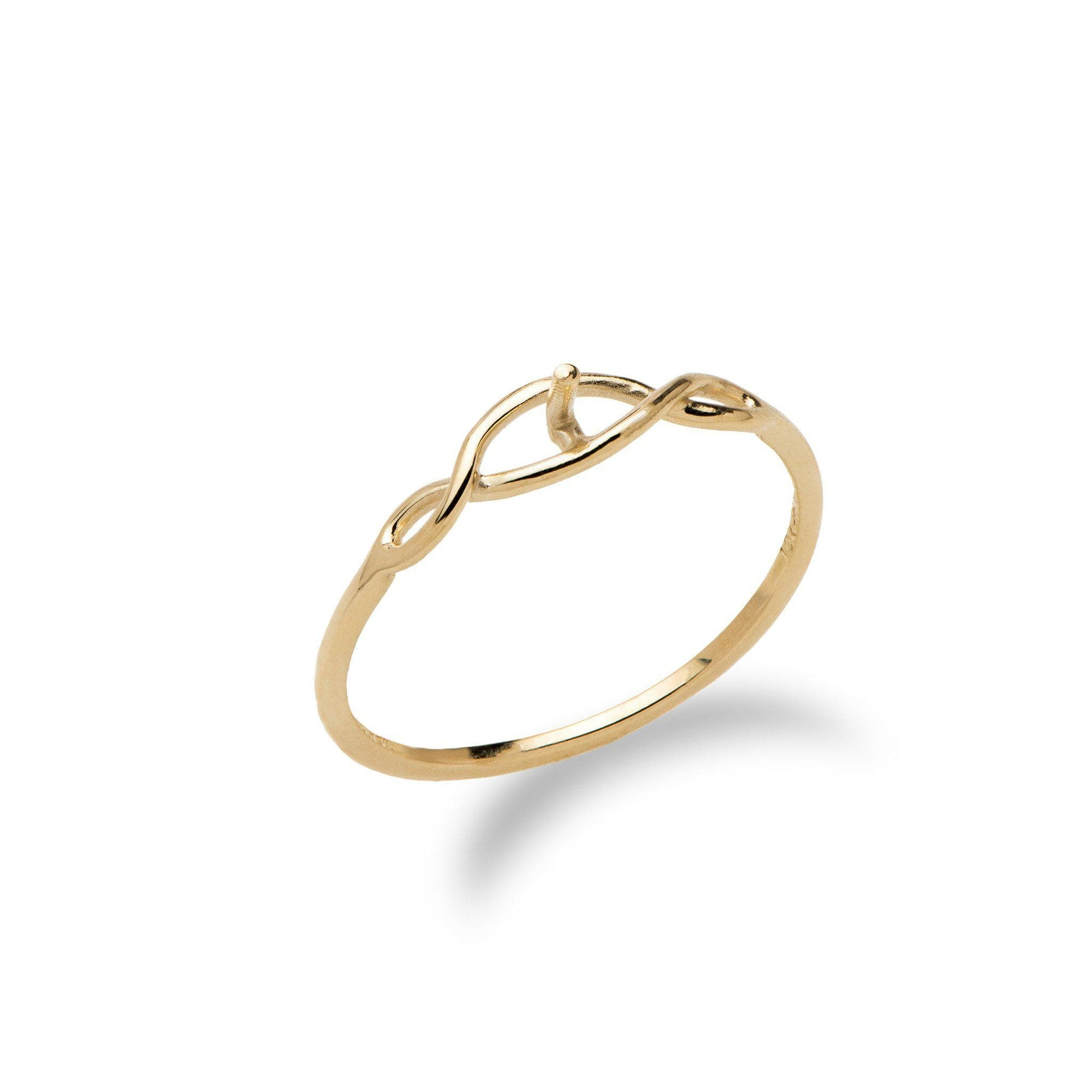 Infinity Ring Mounting in 10K Yellow Gold-[SKU]