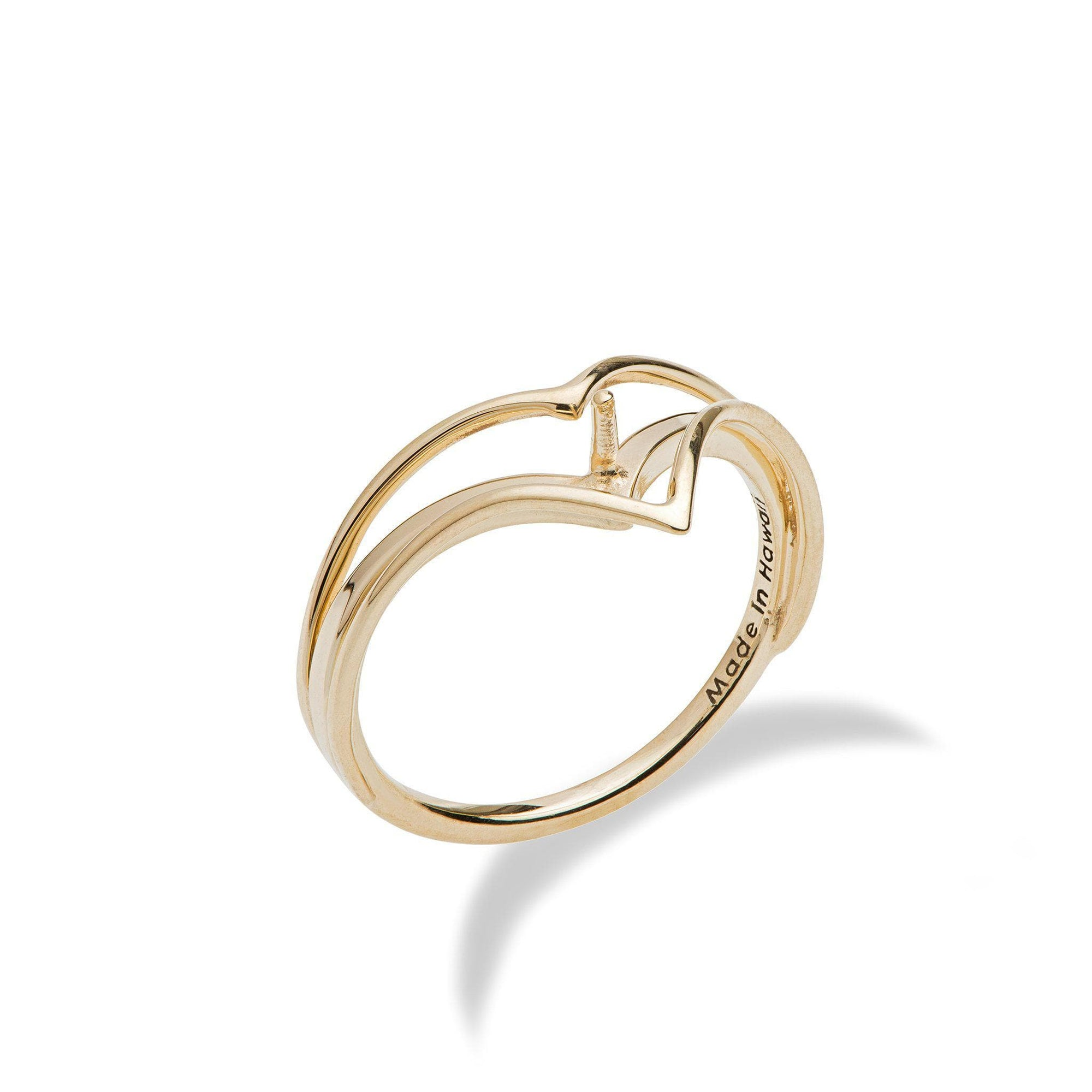 Pick-a-Pearl Chevron Ring in Gold-[SKU]