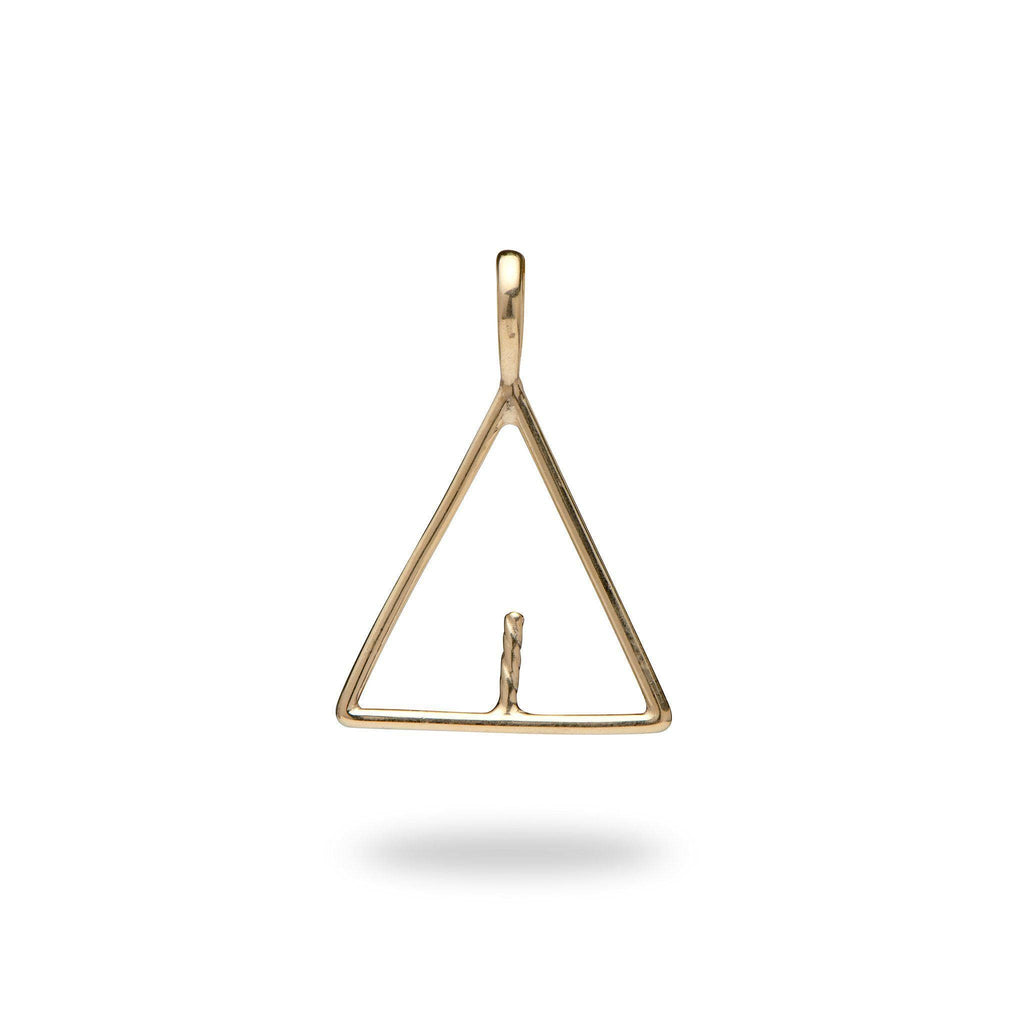 Triangle Pendant Mounting in 10K Yellow Gold - Maui Divers Jewelry